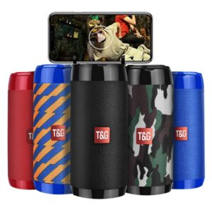 TG113C Column Portable Bluetooth Mini Speaker with FM Radio TF Card AUX Cable Wireless Loundpeakers &Phone Holder 9 Colors
