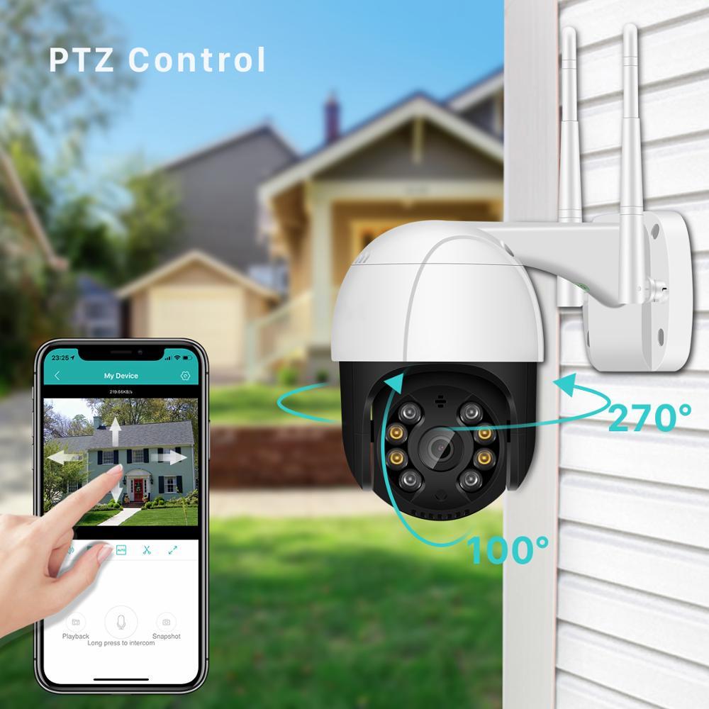 1080P PTZ Wifi IP Camera Outdoor 4X Digital Zoom AI Human Detect Wireless Camera H.265 P2P ONVIF Audio 2MP Security CCTV Camera
