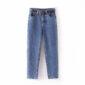 Aachoae Fashion Women Mom Jeans With Belt Cowboy Long Trousers Boyfriend Stretch Jeans Casual Female Washed Denim Harem Pants