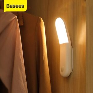 Baseus Smart LED Night light PIR Intelligent Motion Sensor USB LED Lamp Rechargeable Bedroom Closet Toilet Magnetic Nightlight