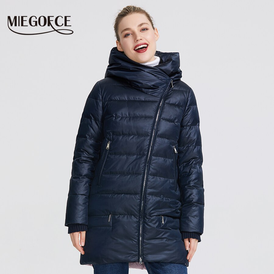 MIEGOFCE 2020 Winter Women's Collection Women's Warm Jacket Women Coats and Jackets Winter Windproof Stand-Up Collar With Hood