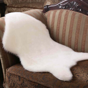FUNIQUE Fur Artificial Sheepskin Hairy Carpet Living Room Bedroom Rugs Skin Fur Plain Fluffy Area Rugs Washable Bedroom FauxMats