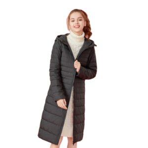 SEMIR Hooded down jacket women Casaco Feminino Women Winter Jacket 2019 Fashion Thick down Padded Long Coat Women