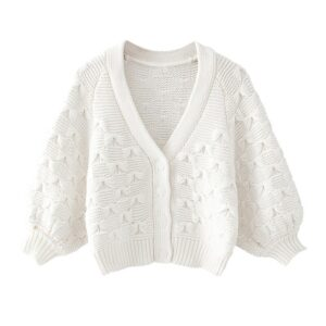 Aachoae Solid Casual Knitted Sweater Women Batwing Long Sleeve Cardigan Sweaters Outerwear Warm Soft White Tops Rebeca Mujer
