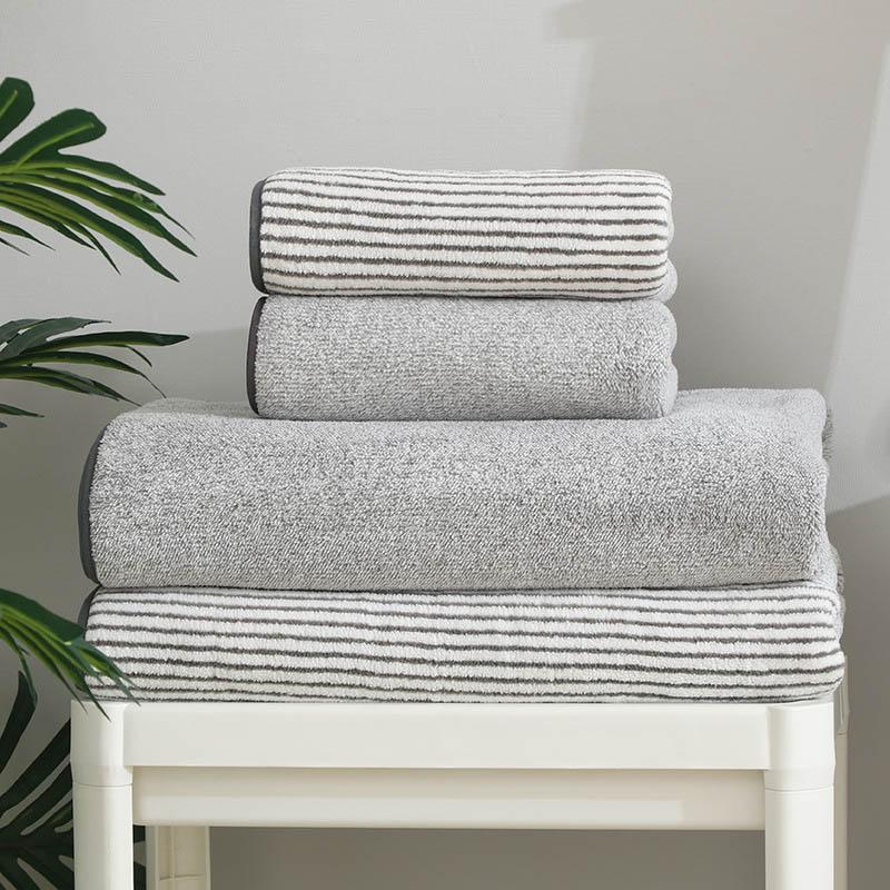 2pcs/set Bath Towel Set Solid Color Large Thick Bath Towel Bathroom Hand Face Shower Towels Home For Adults Kids