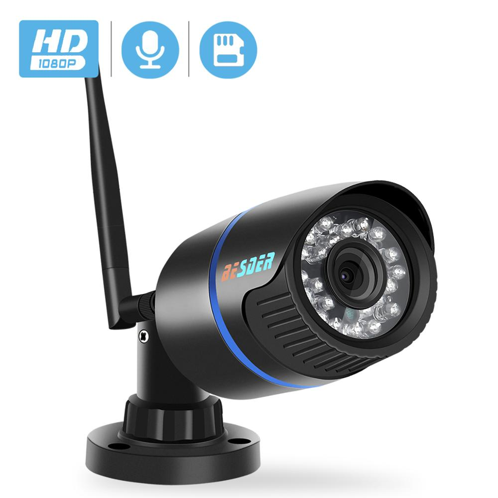 BESDER 1080P HD IP Camera Wifi Outdoor ONVIF P2P Audio CCTV Camera IP With SD Card Slot Wireless Wired ICSee Video Surveillance