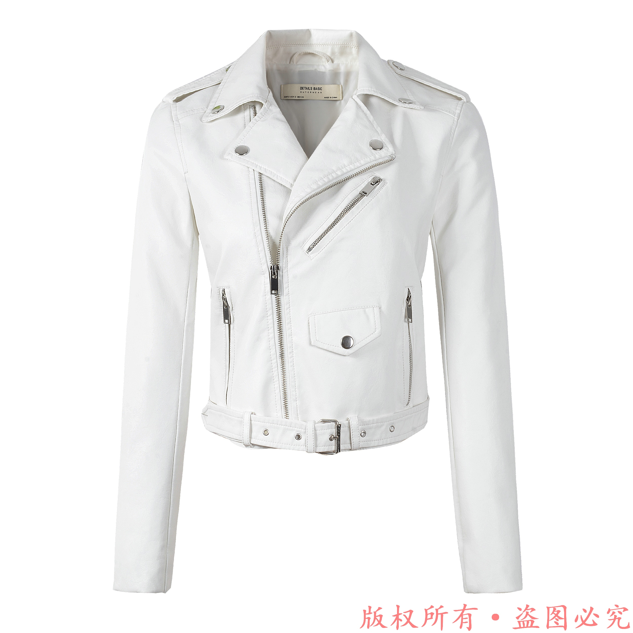 New Arrival 2020 brand Winter Autumn Motorcycle leather jackets White leather jacket women leather coat slim PU jacket Leather
