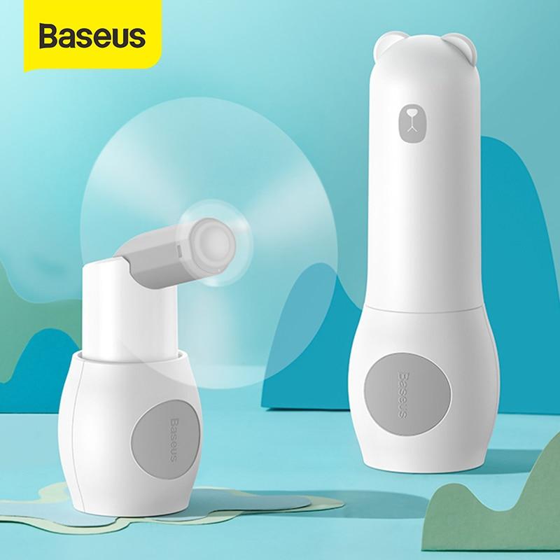 Baseus 2000mAH Mini Fold Fans Handheld Electric Portable Fans Power bank 2in1 2speed Low Noise Rechargable Desktop Electric Fan