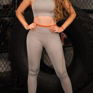 GXQIL Ins Seamless Yoga Set Workout Clothes for Women 2 Piece Gym Set Women Fitness Suit 2020 Dry Fit Jogging Sport Femme Gray