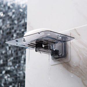 New Soap Box Creative Bathroom Accessories Transparent PP Drain Wall Hanging Scented Soap Holder Sponge Rack Storage Organizer