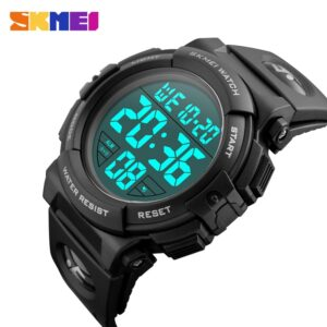 SKMEI Chrono Men Watch Top Luxury Brand Sport Watch Electronic Digital Male Wrist Clock Man 50M Waterproof Men's Watches 1258