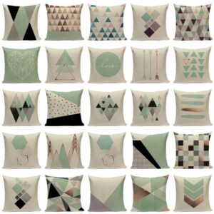 Customable Pillow Cushion Geometric Pillowcases Decorate High Quailty Modern Green Sofa Cushion Cover For Living Room