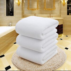 White Large Bath Shower Towel Cotton Thick Towels Home Bathroom Hotel Adults Kids Badhanddoek Toalha de banho Serviette de bain