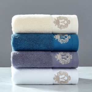 2020 High-grade 100% cotton Towel set bathtowel + facetowel set soft bath face towel handtowel Bathroom towel sets