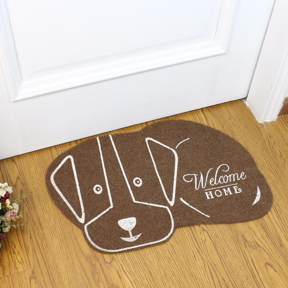 38*58cm Head Right Cat Shape Floor Mat dog Anti-slip Floor Kitchen Carpet Rugs Tatami Toilet Tapete Rug Porch Doormat CC-002