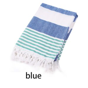 Beach Towel Turkish Bath Towel Striped Cotton Tassel Towel Travel Camping Sauna Beach Gym Swimming Pool Blanket Surgery Shawl