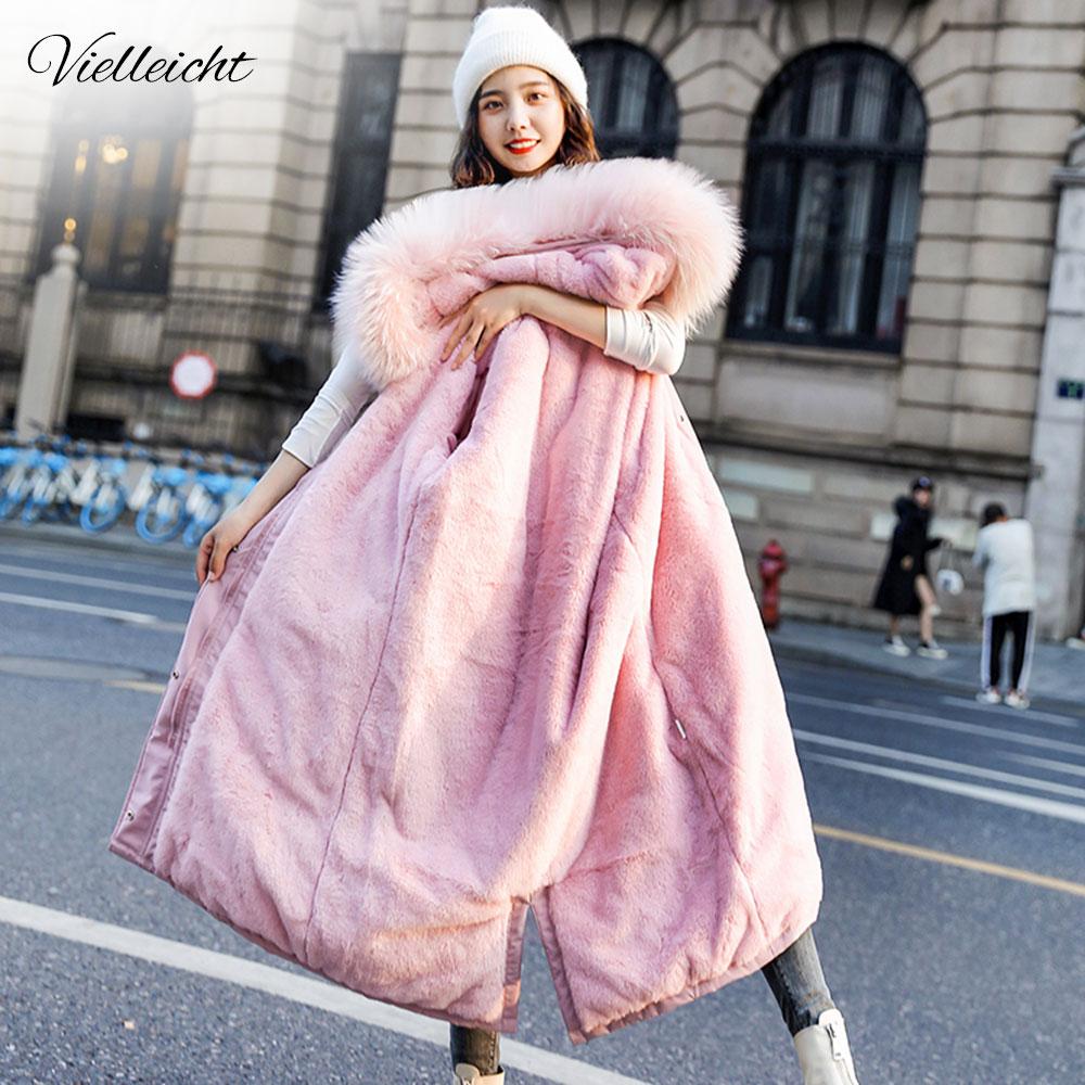 Vielleicht Winter Jacket Parkas 2020 -30 Degree Women's Winter Long Coats Hooded Fur Collar Thick Warm Winter Jackets Women