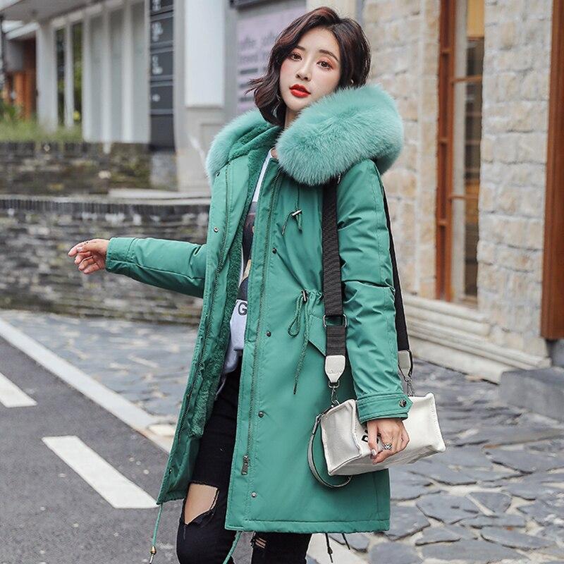 winter parkas & Jacket 2020 New winter -30 degree women jacket Parkas hooded fur collar thick section warm winter women jackets