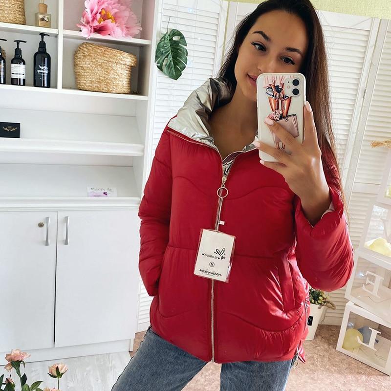 Winter Women Parkas jacket Autumn Winter 2020 matte fabric thick warm female parkas jacket Casual Solid winter outwear jackets