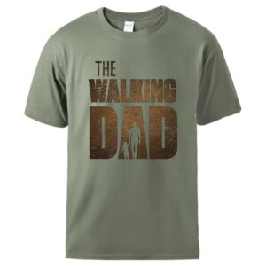 Man T shirt Summer Tee The Walking Dad Print Male Short Sleeve Tops 2020 Homme Casual Workout Top Hot Sell Father Day Gift Tee