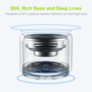 EWA A106Pro IP67 waterproof Speaker Portable Wireless Speakers Bluetooth 5.0 with Carry Case Bass Radiator for Outdoors, Home