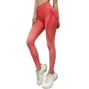 Gradient Women Yoga Set Yoga Short Sleeve High Waist Sport Leggings Gym Set Yoga Clothes Sports Suit Fitness Top Shirt yoga suit