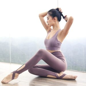 Sexy Women Yoga Set Gym Set Workout Clothes Women Sportswear Fitness Suit Female High waist Leggings + Sports Bra Sport Outfit